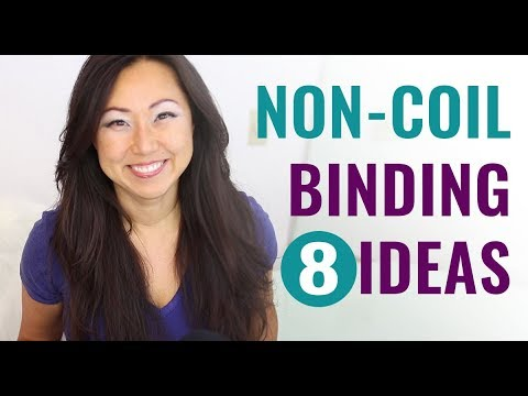 Planner Binding Options // Saddle Stitching, Staples, Bookbinding Options - Spine