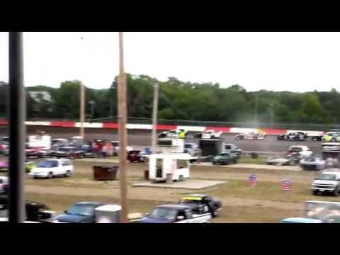 Beatrice Speedway Sport Mod Heat Race 8/7/15