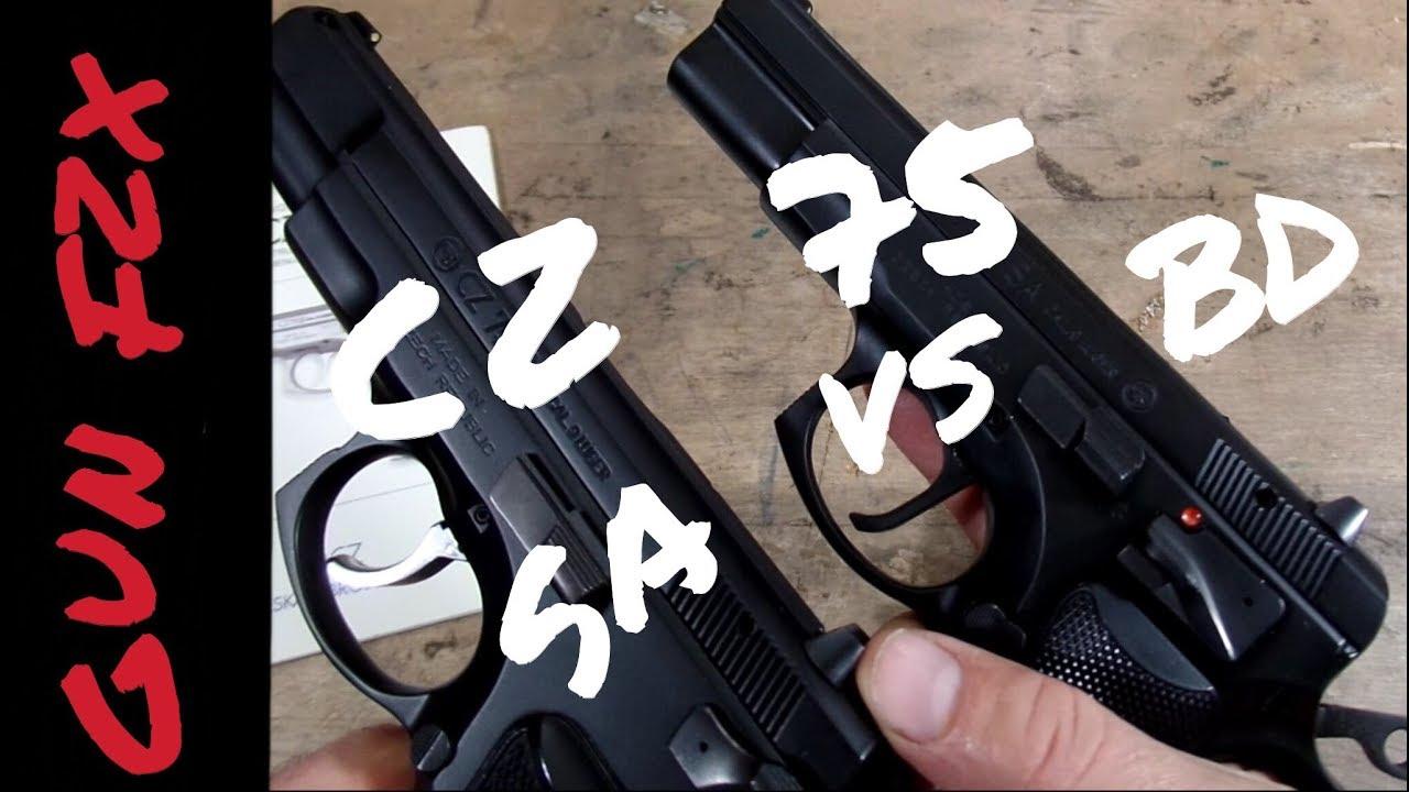 CZ 75 BD vs CZ 75 B SA - decocker vs single action