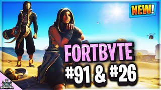 How to get Fortbyte #91 & #26 Locations GUIDE FORTNITE BATTLE ROYALE