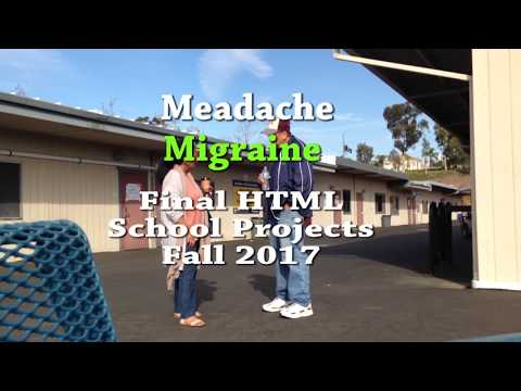 Fall 2017 School Final HTML Projects My Headache and Migraines.Santiago Canyon College