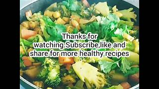 SUPER HEALTHY DIET.MIXED VEGETABLE CURRY FOR GREAT HEALTH.