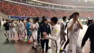 奇诚庸致谢远道而来的韩国球迷 기성용 감사 팬들과 경기 후  | 중국 vs 한국 | China vs Korea World Cup Qualifier 20170323