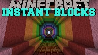 Minecraft: INSTANT BLOCKS MOD (SKYDIVING, MOB FARM, HUGE TREE HOUSE, & MORE!) Mod Showcase