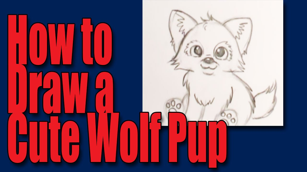 Uncategorized Wolf Pup Drawing how to draw a cartoon wolfpup youtube