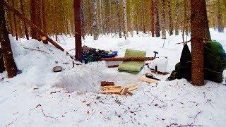 [РВ] ОБУСТРОЙСТВО НОЧЁВКИ в зимнем одиночном походе
