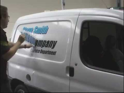 Applying Vinyl Graphics To Commercial Vehicles YouTube - Vehicle decals for business application