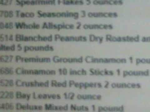 Todays Food Prep Order for SHTF