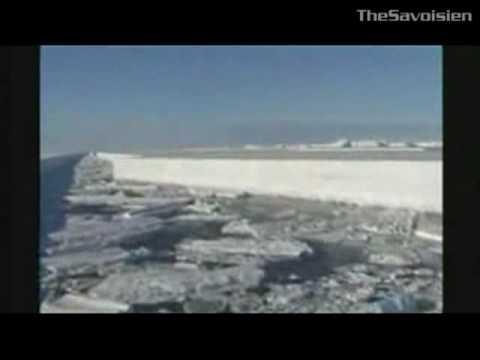 Antarctique - Decoupage de la glace aux lasers