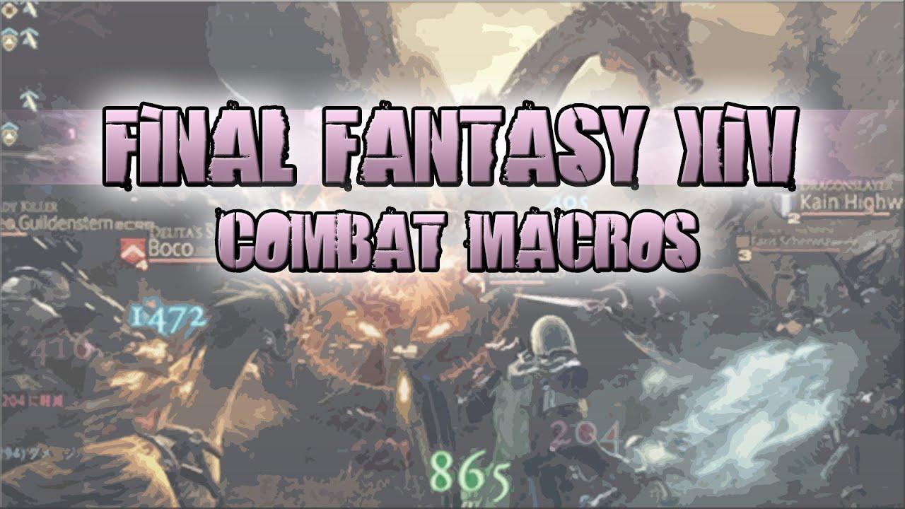 Final Fantasy 14 - Easy Combo Macro Tutorial