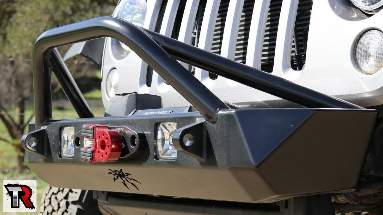 Jeep Wrangler Jk Front Bumper >> Poison Spyder Bruiser Bumper Review & Install - YouTube