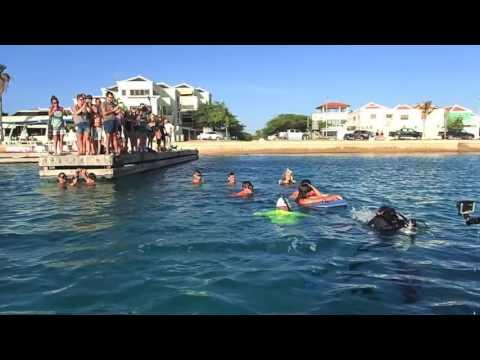 Marina Kazankova Record Guinness attempt 154m. Bonaire Deepsea Challenge