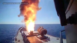 Kriegsschiffe im Mittelmeer: Russland feuert Raketen auf IS-Stellungen in Syrien ab