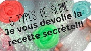 5 types de slime♡//Recette qui marche à tout les coups!!!