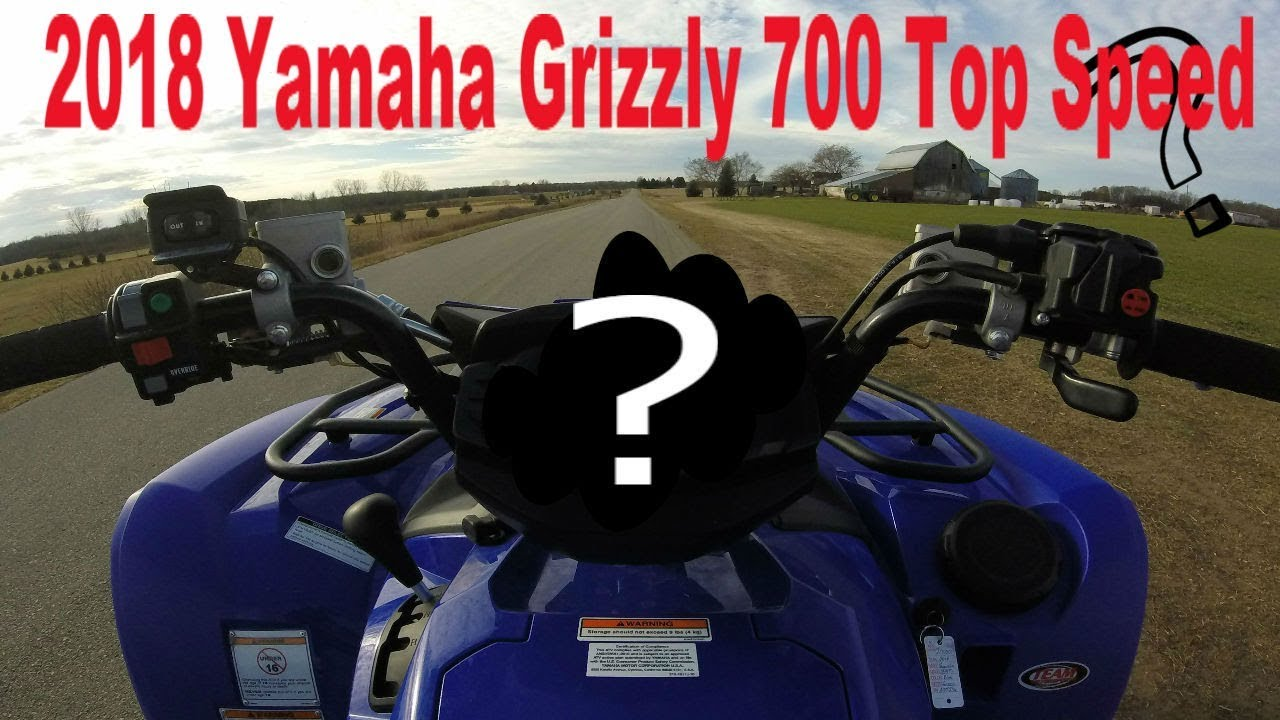 2018 Yamaha Grizzly 700 EPS Top Speed Run! (MPH)