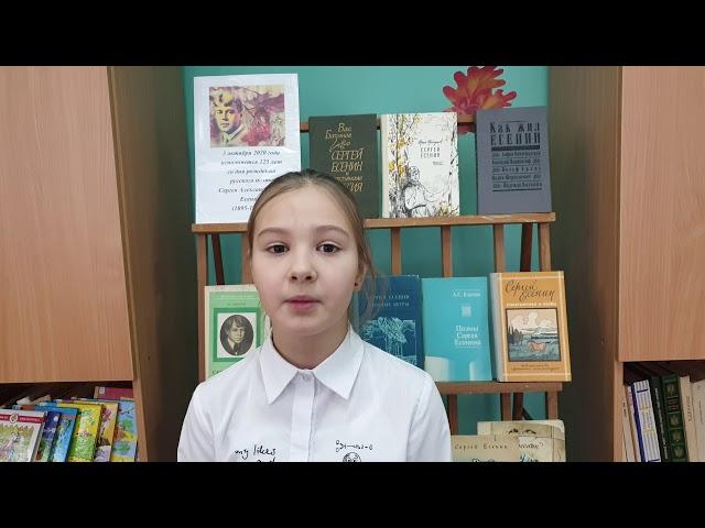 Изображение предпросмотра прочтения – ДарьяРыкова читает произведение «Пороша (Еду. Тихо. Слышны звоны…)» С.А.Есенина