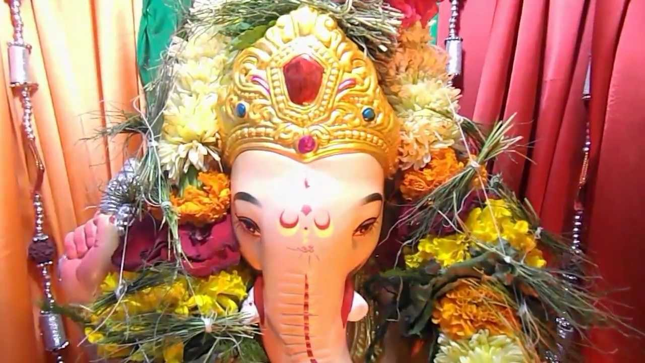 Milind Deshpande Home Ganesh Decoration 2012 Youtube