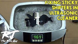 Fix Stiff/Sticky Bike Shifters With Ultrasonic Cleaner - Clean/Lube