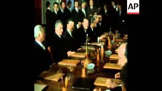 SYND 24/11/1971 YUGOSLAVIAN PRESIDENT, JOSIP TITO AND ROMANIAN PRESIDENT NICOLEA CEUSESCU MEETING