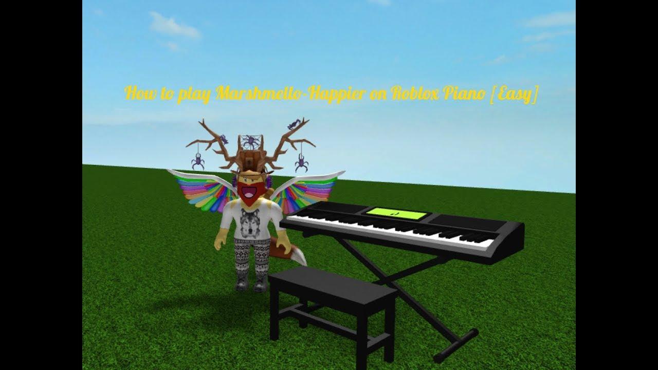Roblox Piano Sheets Easy Alone How To Play Marshmello Happier On Roblox Piano Easy Youtube