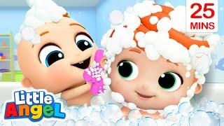 It's Bath Time!   Good Habits Songs + More Little Angel Kids Songs & Nursery Rhymes