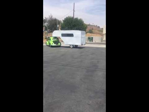 VW Bug Pulls Custom Trailer