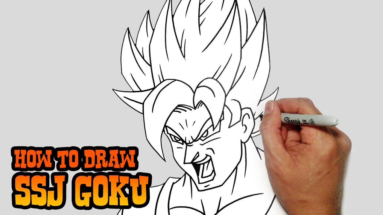 Uncategorized How To Draw Videos For Kids how to draw ssj goku dragon ball z video lesson youtube