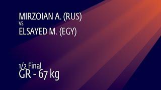 1/2 GR - 67 kg: A. MIRZOIAN (RUS) v. M. ELSAYED (EGY)