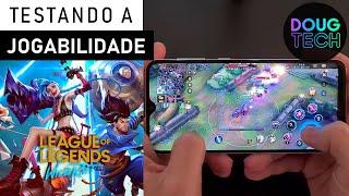 League of Legends no Galaxy A30s / Teste de JOGABILIDADE (Game Play)