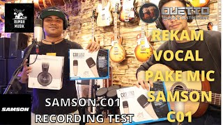 SAMSON C01 RECORDING TEST. REKAM VOCAL PAKE MIC CONDENSER SAMSON C01, HEADPHONE SAMSON SR850 screenshot 4