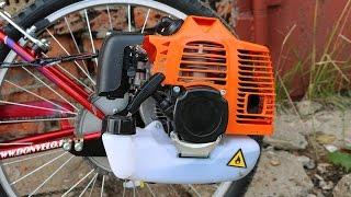 Установка двигателя на велосипед | Сборка мотовелосипеда MOTAX Lampa(Новая техника от компании МОТАХ - Мотовелосипед! Установка двигателя на велосипед MOTAX Lampa. Сборка Велосипеда..., 2016-07-12T12:12:59.000Z)