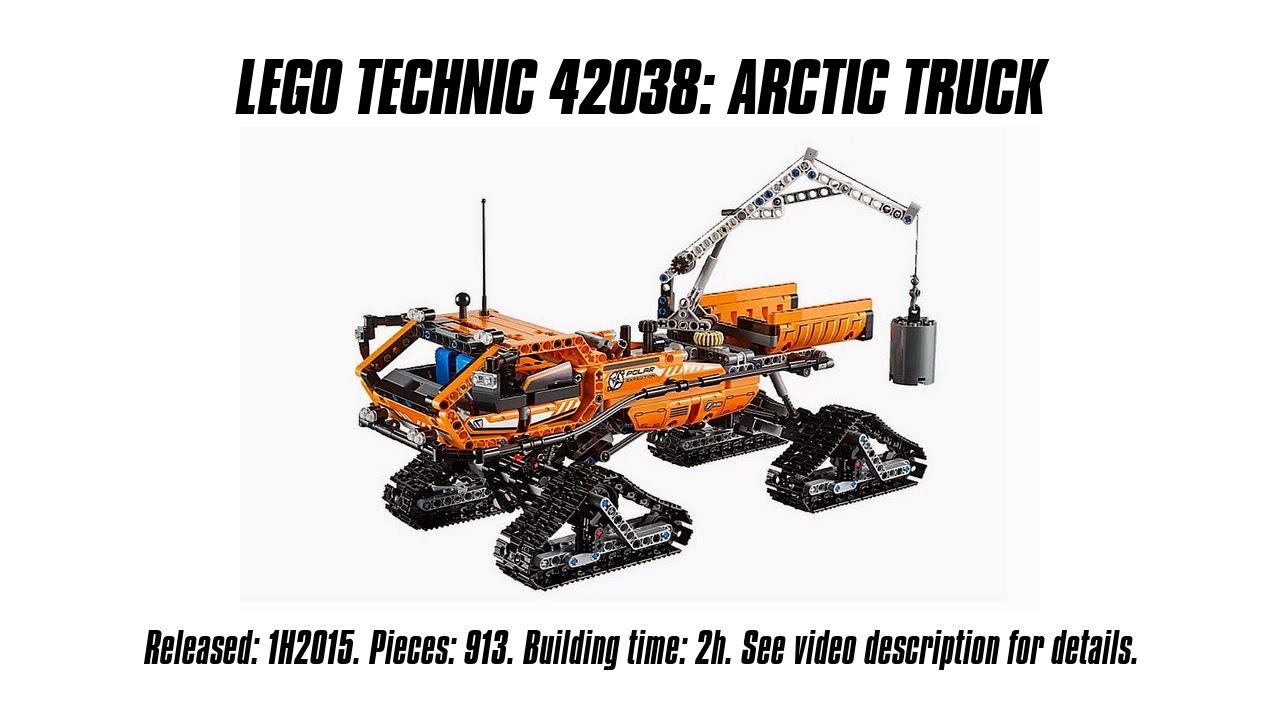 Lego Technic 42038 Arctic Truck Unboxing Speed Build