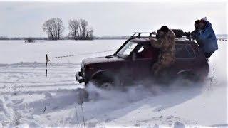 Лютый джиперский треш на Масленицу. Нивы по снегу.