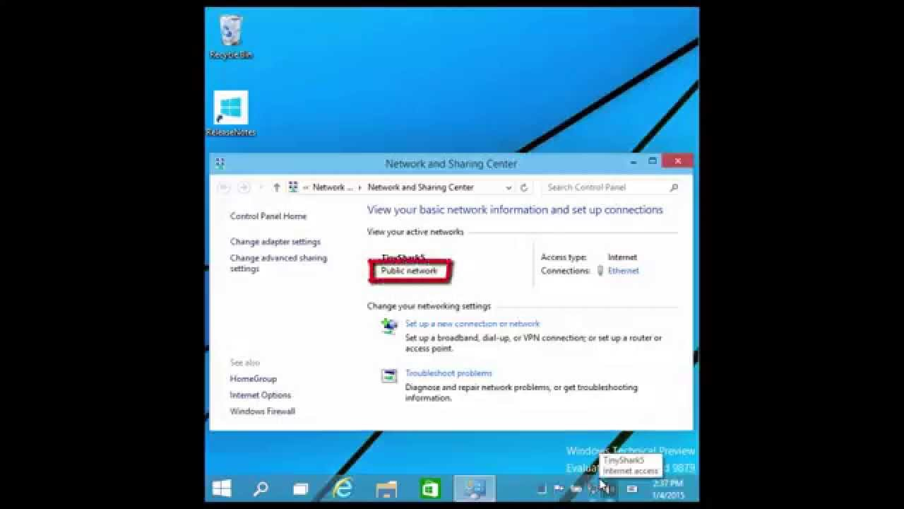 how to change from private to public network windows 10