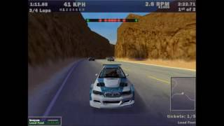 Need For Speed III: Hot Pursuit - Gameplay #02 / Pursuit in Redrock Ridge