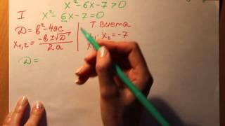 Алгебра. Решение квадратных неравенств.