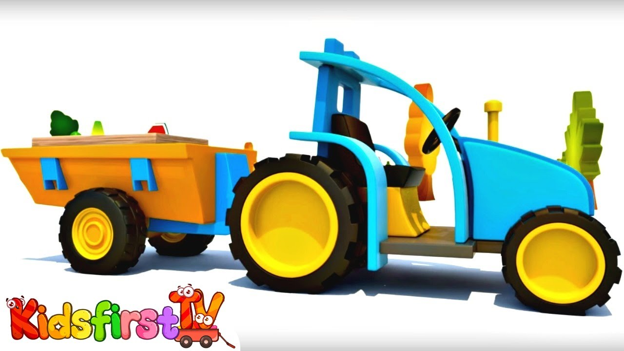 Tractor Cartoon Picker : Learn fruit names with a tractor cartoon youtube