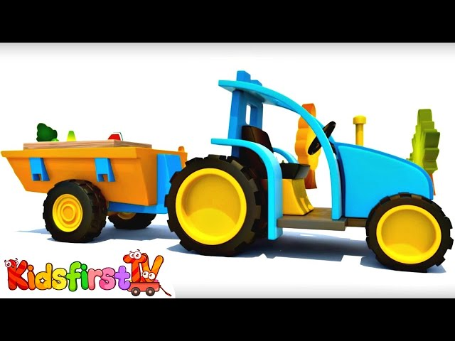 Car cartoons & educational videos. Learn fruits with tractor cartoon and truck cartoon #KidsFirstTV.