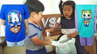 Drama Adik vs Kaka Rebutan Baju LED | Unboxing Baju LED
