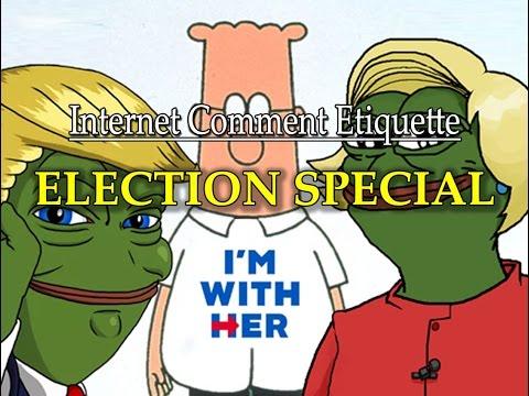 Internet Comment Etiquette: HALLOWEEN ELECTION SPECIAL