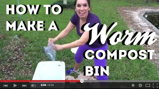 How I Made My First Worm Compost Bin By @jenknoedl  #diy #gardening