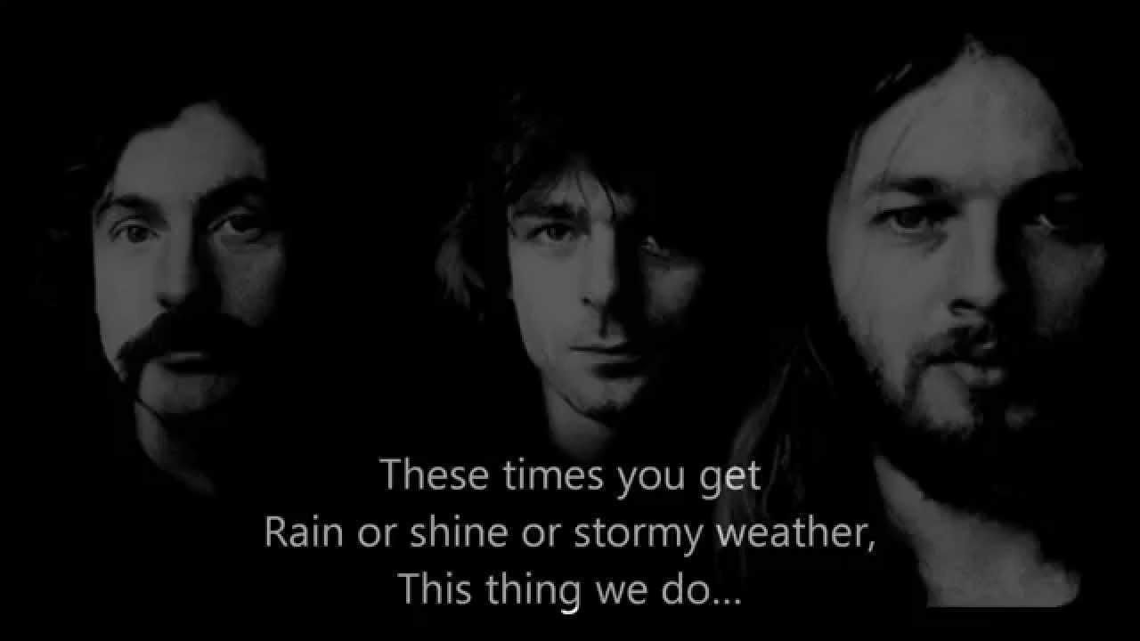 Pink Floyd - ' Louder than Words '  with  LYRICS