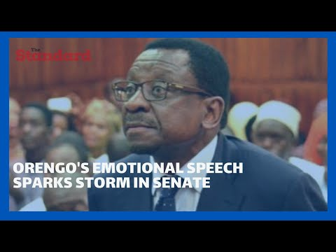 Sen.James Orengo's emotional speech sparks storm in the Senate during the county revenue allocation