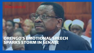 Sen.James Orengo\'s emotional speech sparks storm in the Senate during the county revenue allocation