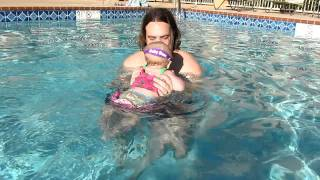 Sadie swimming with Tim Thumbnail