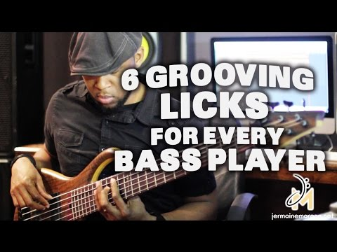 6 GROOVING LICKS FOR EVERY BASS PLAYER - BASS TIPS - JERMAINE MORGAN TV EPISODE 2