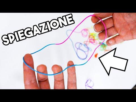 GIOCO DI MAGIA FACILE CON GLI ELASTICI / Spiegazione (fighissimo)
