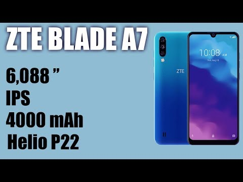Обзор смартфона ZTE Blade A7 2020. IPS, 4000 MAh