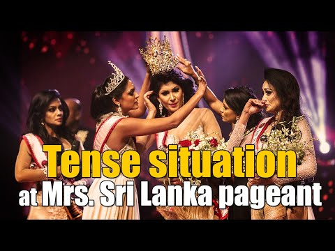 Tense situation at Mrs. Sri Lanka pageant