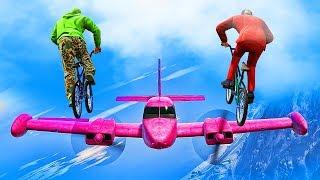 PLANES VS BMX STUNTERS! (GTA 5 Funny Moments)